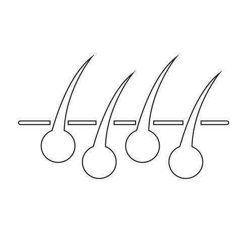 Icono de signo de pelo vector