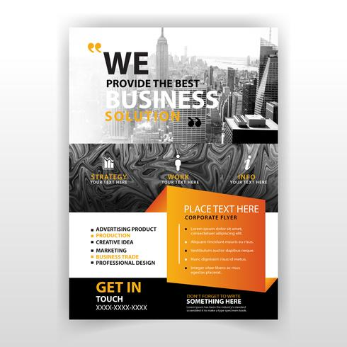 abstract business commercial flyer vector