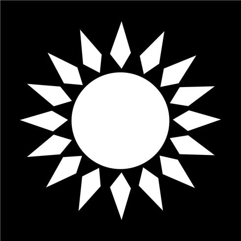 Sign of  sun icon vector