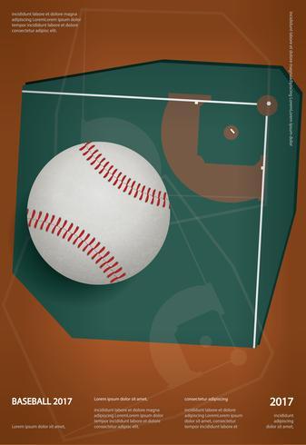 Baseball-Meisterschafts-Sport-Plakat-Design-Vektor-Illustration vektor