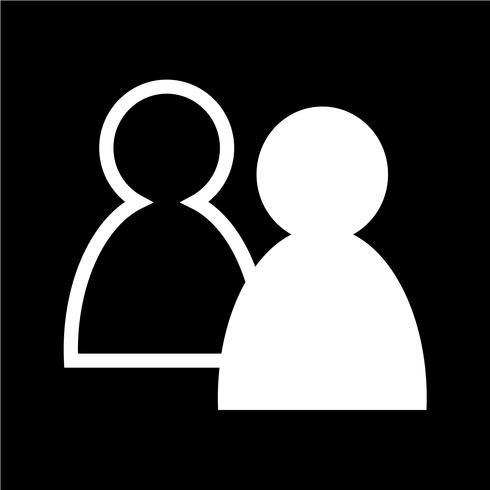 Signe de l'icône de personnes