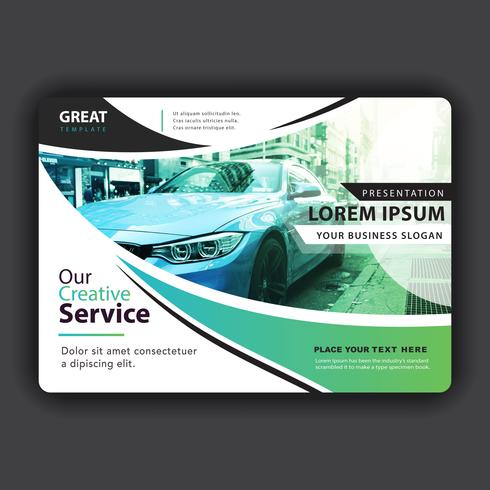 horizontal booklet cover vector