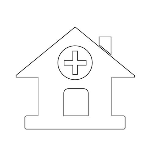 Icono de signo de hospital vector