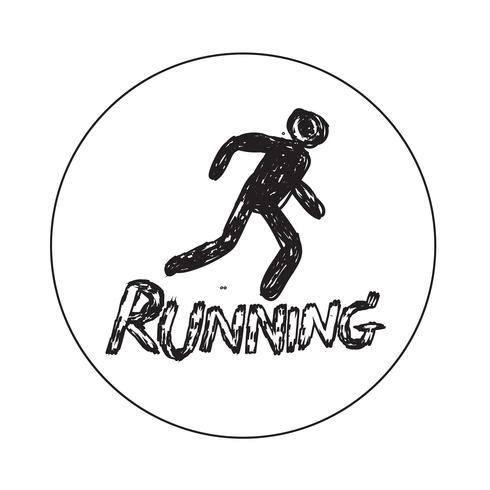 Icono de signo de correr