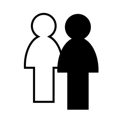 Sinal, de, pessoas, ícone