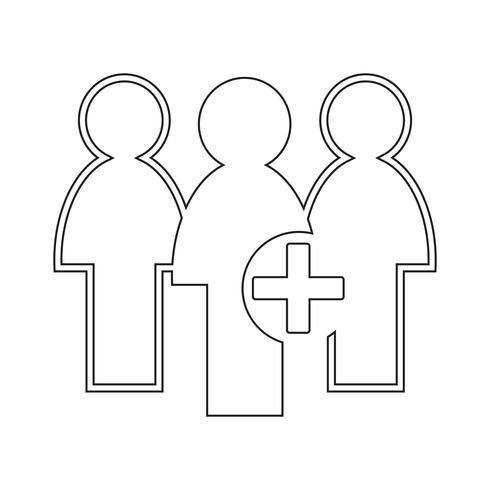 Icono de signo de personas vector