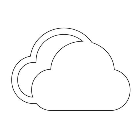 icono de signo de nube vector