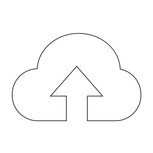 Segno dell'icona di nuvola