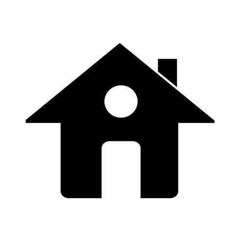 Signo de icono de la casa