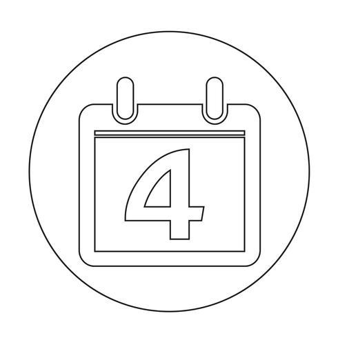 Zeichen des Kalender-Symbols