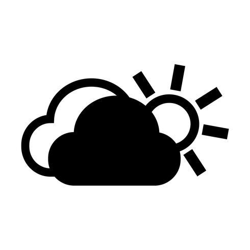 wolk zon pictogram
