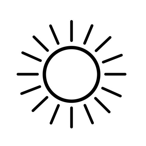 Teken van het pictogram van de zon