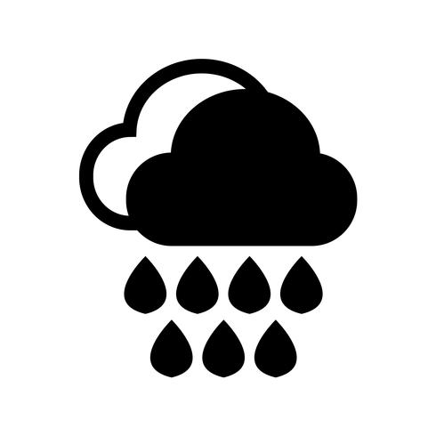 Cloud regen pictogram