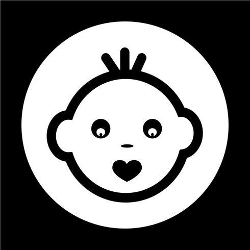 Baby Face Icon vector