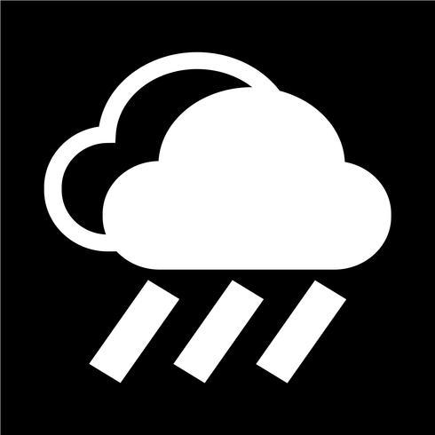 Icono de lluvia de nubes vector