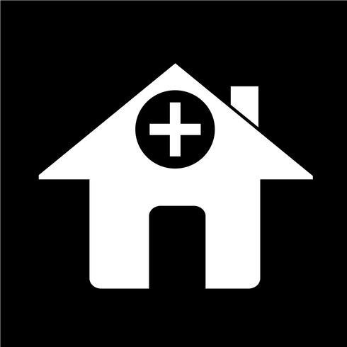 Sinal, de, hospitalar, ícone