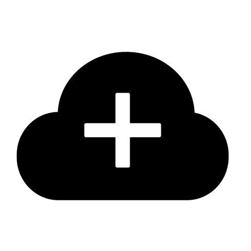 Zeichen der Cloud-Symbol