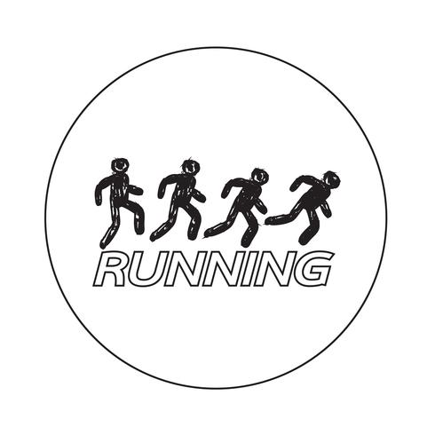 Sign of  Running icon vector