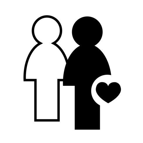 sinal de ícone de pessoas