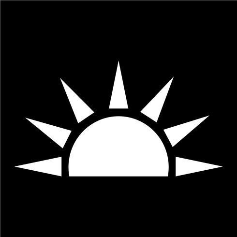 Sinal, de, sol, ícone