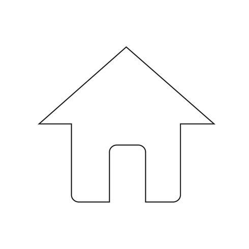 Teken van huis pictogram