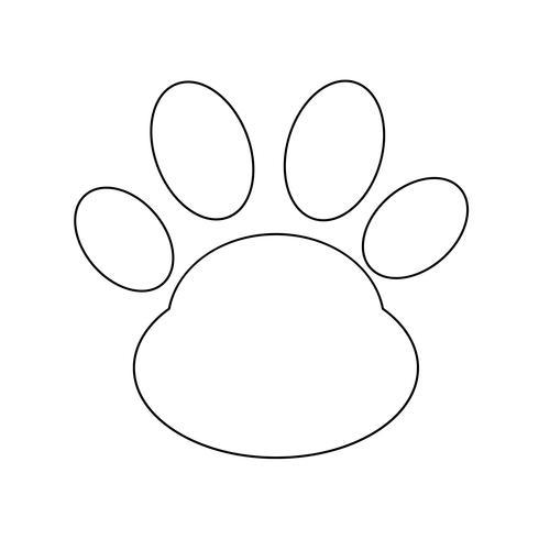 Tier Pfotenabdruck Symbol