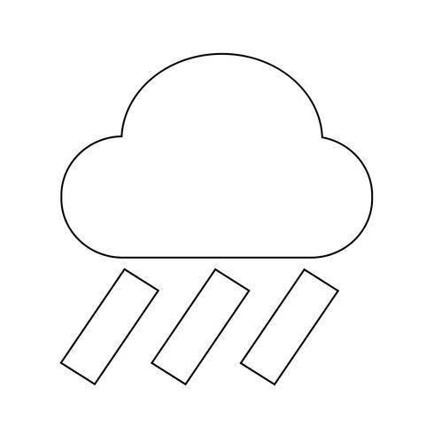 Cloud rain ikon