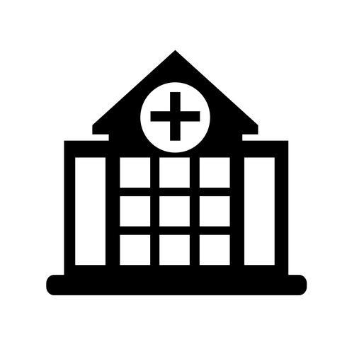 Segno dell'icona di ospedale