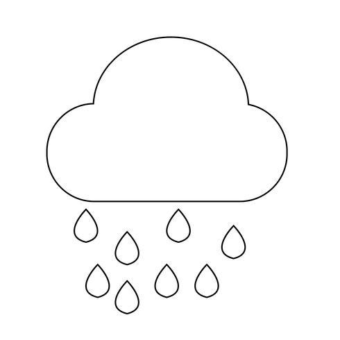 Wolkenregen-Symbol