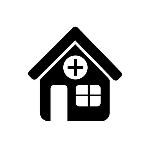 Sign of  Hospital icon vector