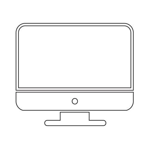 Icono de la computadora de escritorio vector