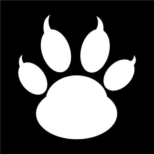 icona di stampa zampa animale