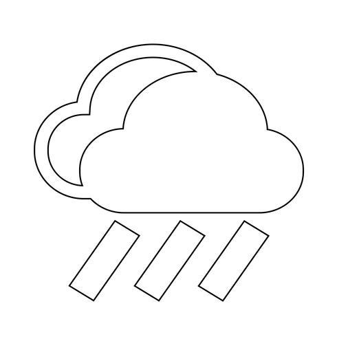 Icono de lluvia de nubes