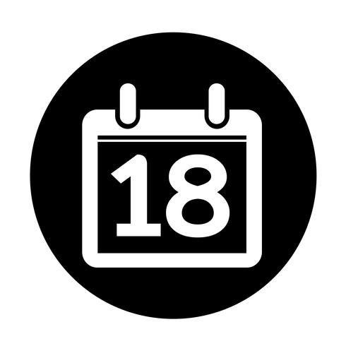 Icono de signo de calendario vector