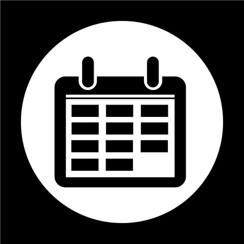 Icono de signo de calendario vector