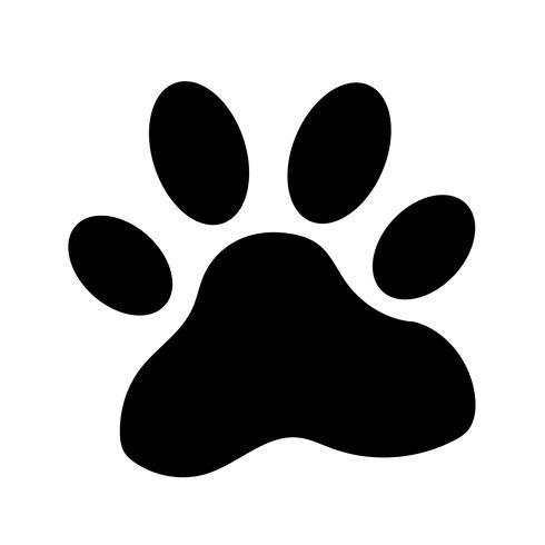 animal paw print icon vector