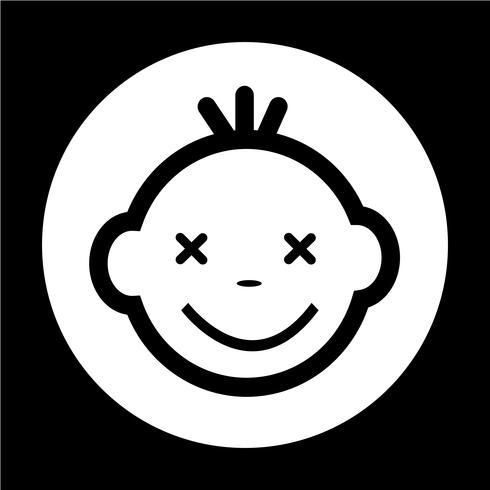 Baby gezicht pictogram