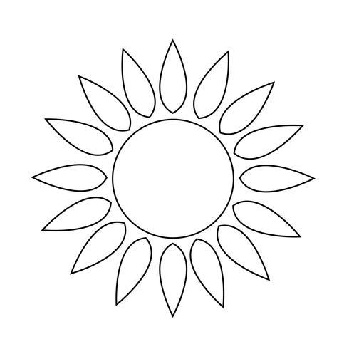 icona del sole Segno di