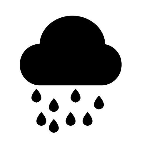 Ícone da chuva da nuvem