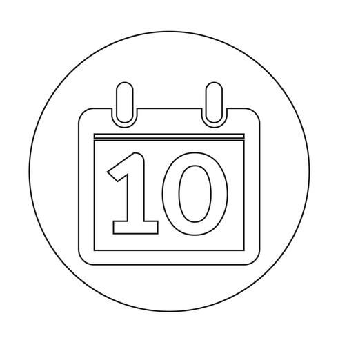 signo de icono de calendario vector