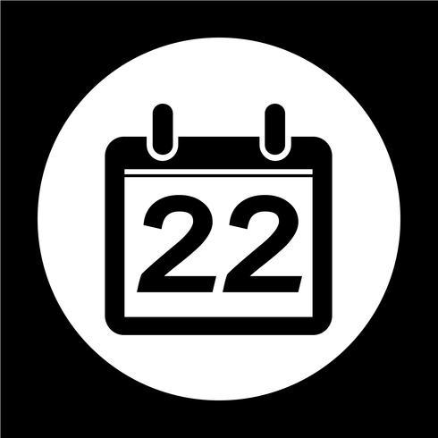 signo de icono de calendario vector