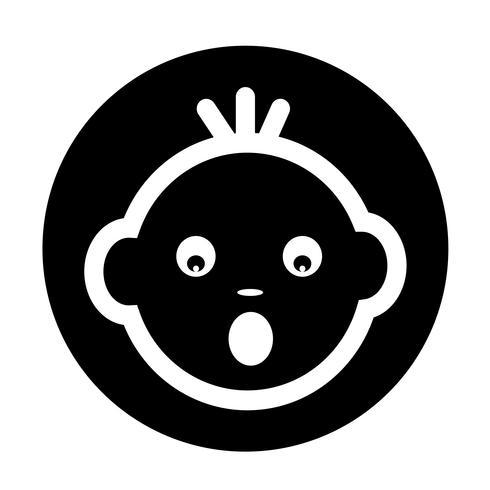 Icona faccia da bambino