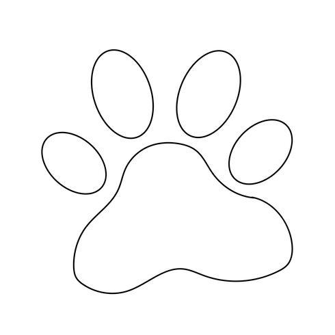 icono de impresión de pata de animal