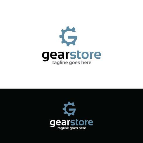 Gear store logo design - Download Free Vector Art, Stock Graphics