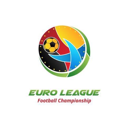 Diseño de logotipo de la liga de europa vector