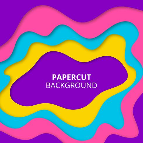 Colorful paper cut background vector