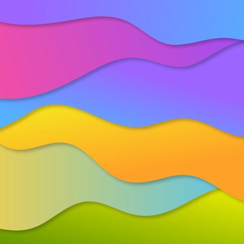 Fondo de corte de papel colorido vector