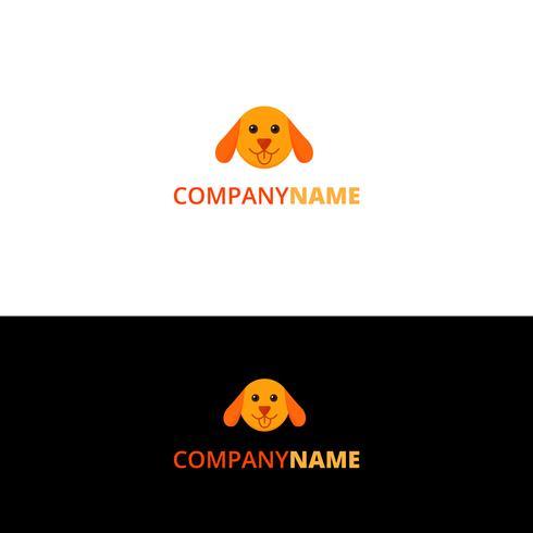 Vektor söt hund logotyp
