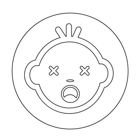 baby ansikte ikon