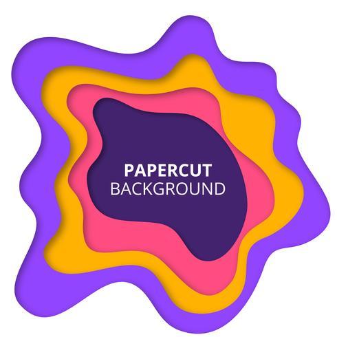 Fondo de corte de papel colorido